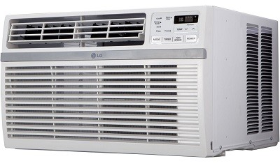 LG LW8015ER 8,000 BTU 115V Window-Mounted Air Conditioner full view.