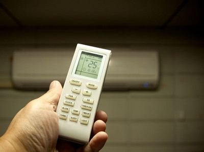 Remote control for the air conditioner.